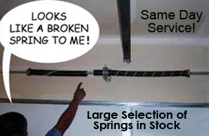 Broken Spring, Access Garage Doors Inc.