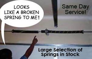 Broken Spring, Access Garage Doors Inc.